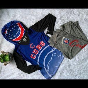 MLB Chicago Cubs hoodies & sweat capri NWOT